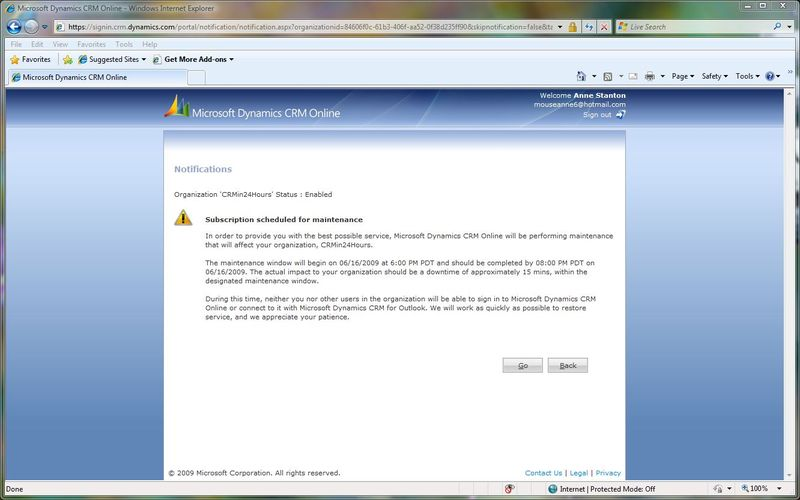 CRM Online Screen Shot