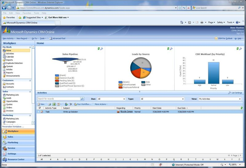 New Screen in CRM Online