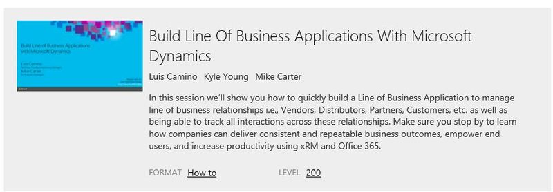 CRM Sessions at Ignite