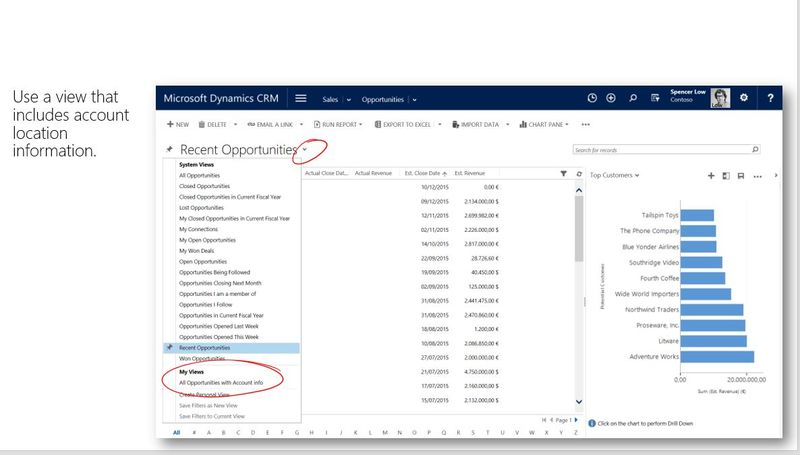 View Opportunity data in CRM 2