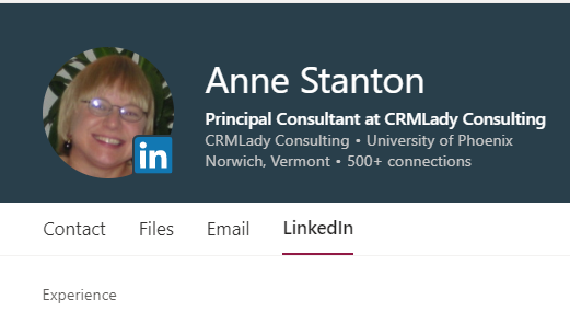 AnneinOutlook with Linkedin